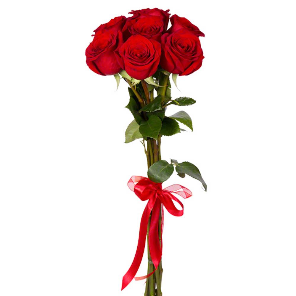 Букет из 7 красных роз премиум